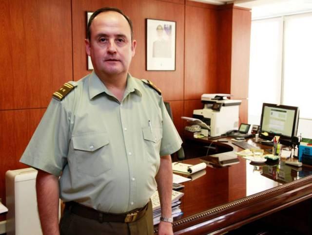 Jaime Barria General Carabineros Jefe V zona